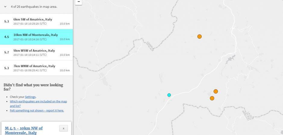 """Nuovo Terremoto: per il Cnr si tratta ancora di """"contagio sismico"""""""